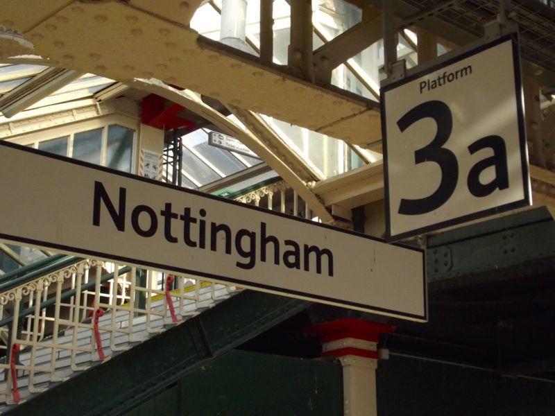 Nottingham Railway Station, England Platform 3a