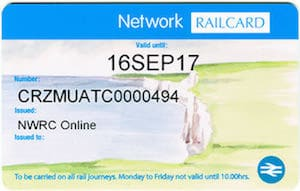 Network Railcard discount code