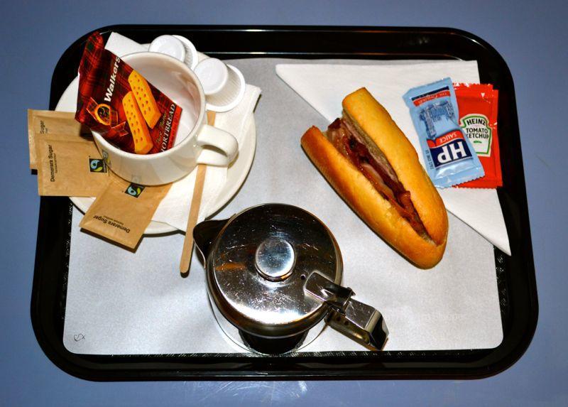 Breakfast on the Night Riviera London to Penzance, Cornwall Sleeper Train
