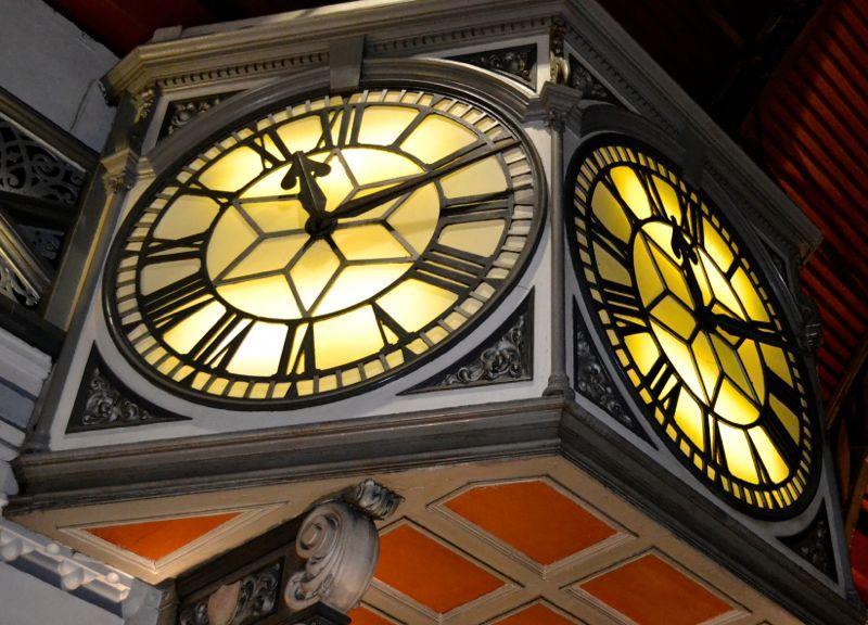 London Paddington Station Clock on Platform One
