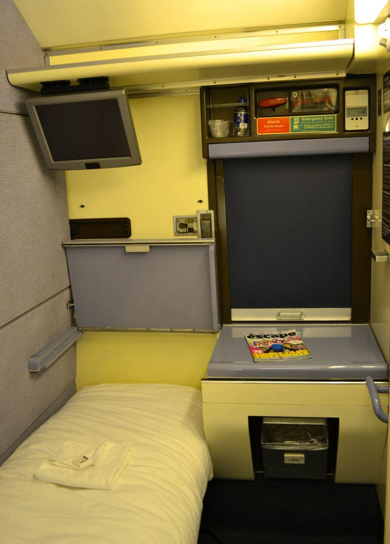 Single Cabin on the Night Riviera London to Penzance, Cornwall Sleeper Train