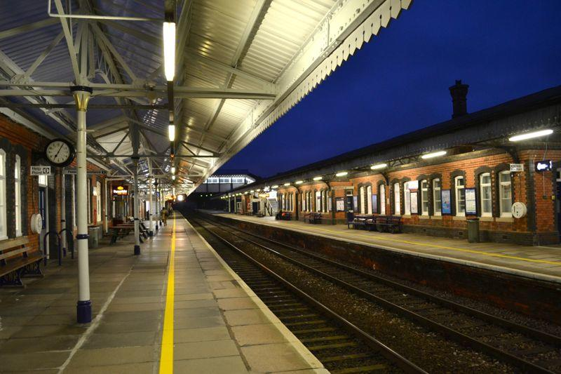 Truro Station Early Arrival on the Night Riviera London to Penzance, Cornwall Sleeper Train