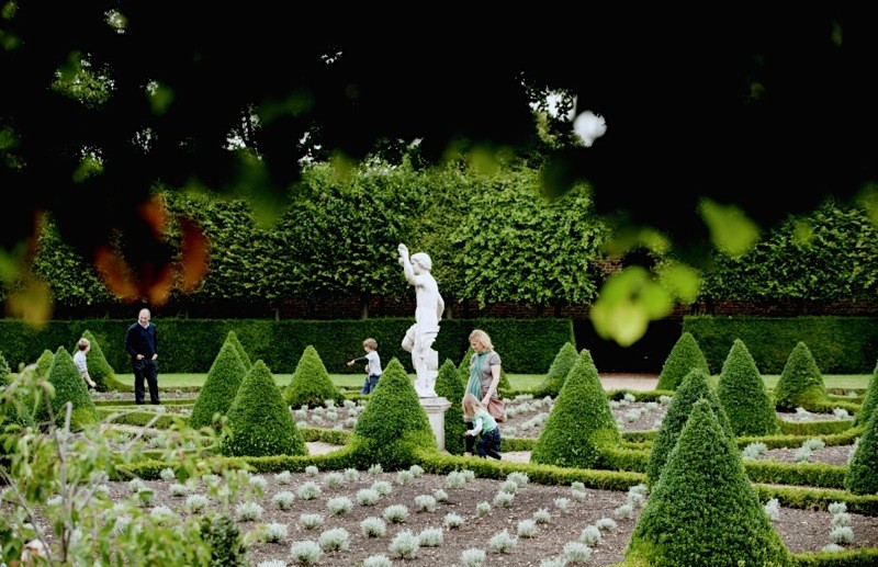 Visitors in the Cherry Garden at Ham House and Garden, Surrey