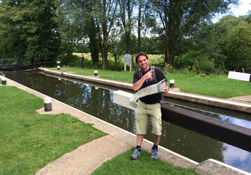 That's me! Chris P King at the River Wey and Godalming Navigations, clearly unable to follow a towpath without a map!