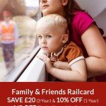 Family & Friends Railcard Discount Code Offers 2017: SAVE £20 (3-Year) and 10% OFF (1-Year) Offers