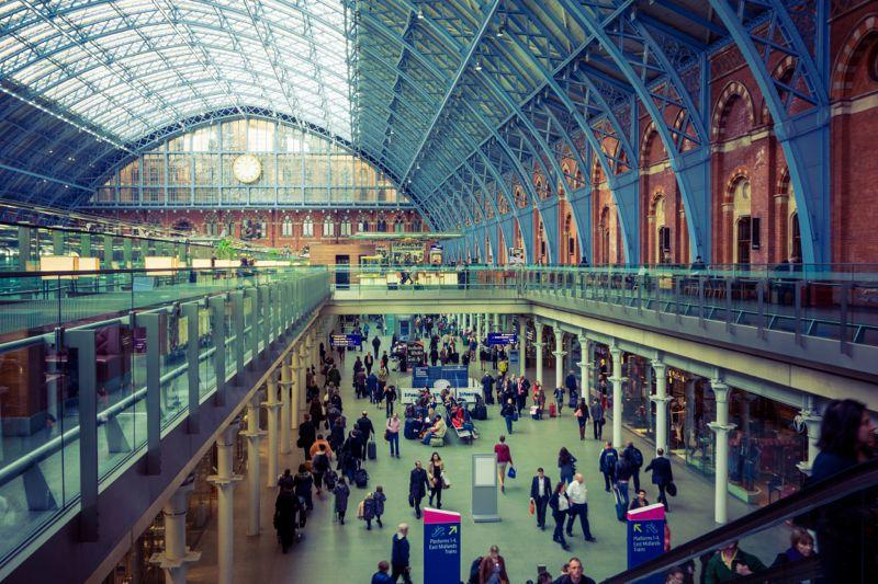 St Pancras Station London Eurostar