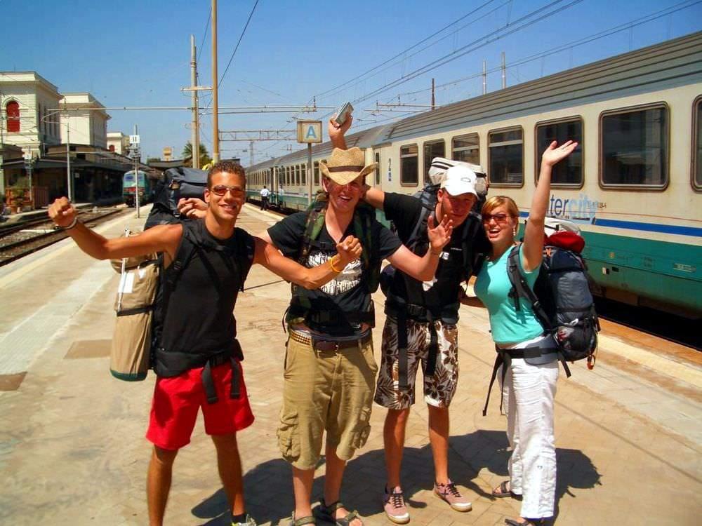 Meeting fellow travellers on an interrail European train trip