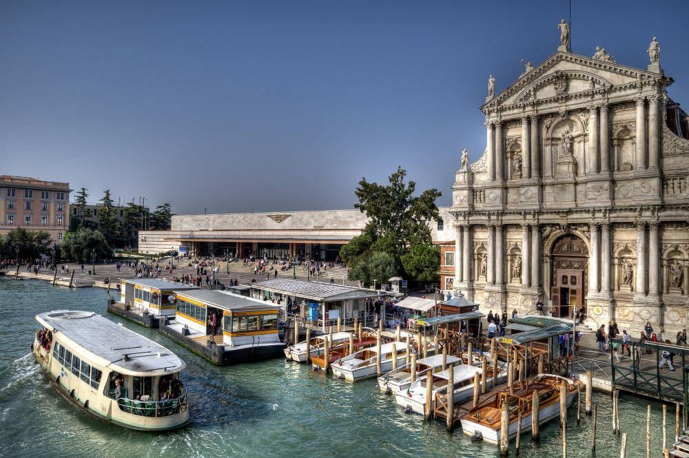 Santa Lucia railway station in Venice