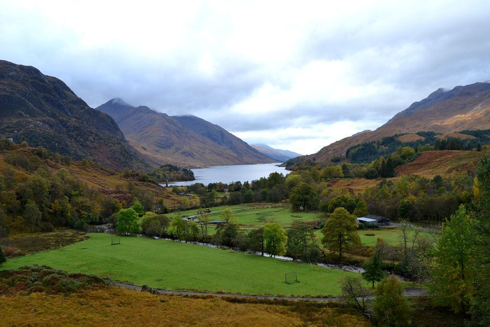 Loch Shiel from the Glenfinnan Viaduct on the West Highland Railway Line