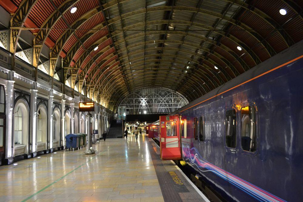 Night Riviera sleeper train on the platform at London Paddington
