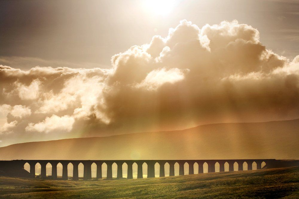 Ribblehead viaduct on the Settle to Carlisle railway