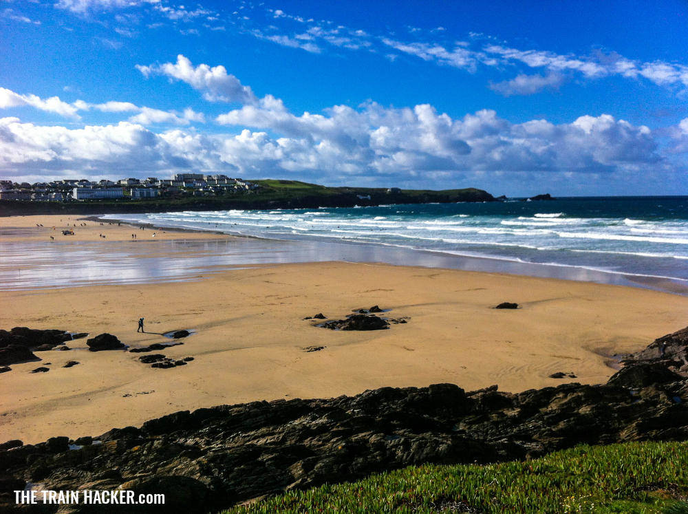Cornwall's famous surfing spot at Fistral Bay