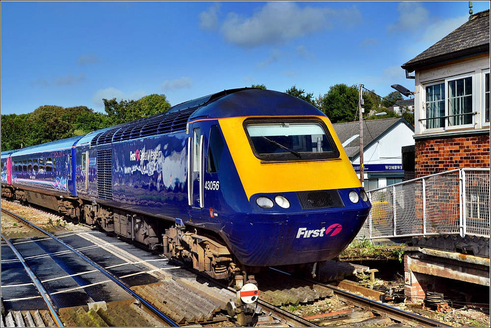First Great Western InterCity 125 (or High Speed Train HST) in Cornwall