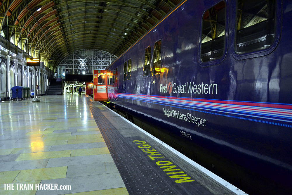 Night Riviera Sleeper Train at London Paddington Railway Station