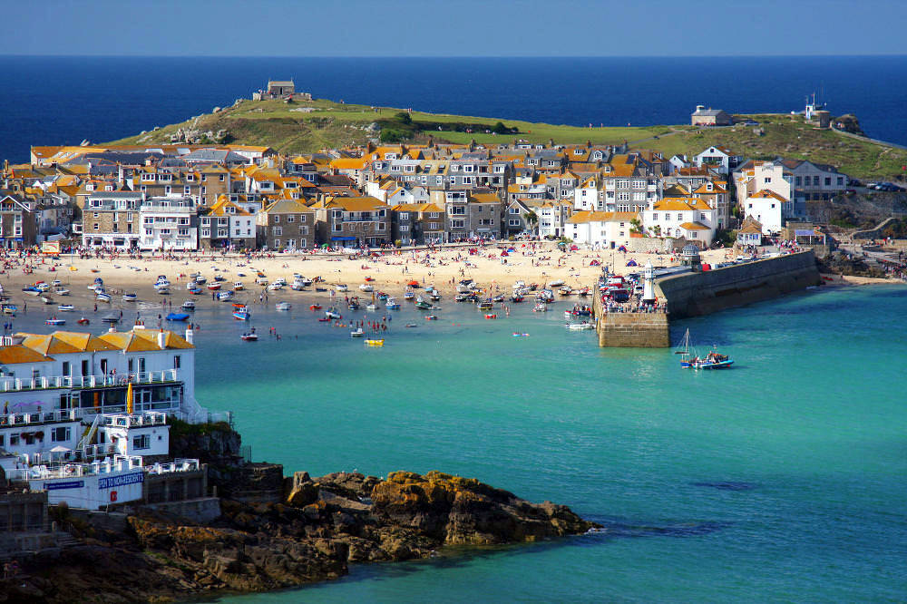 St Ives Cornwall can be reached from The St Ives Bay Line