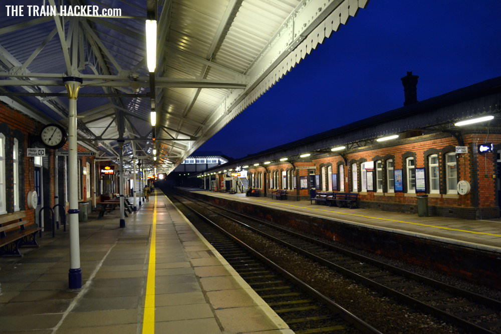 Truro (Cornwall) railway station in the morning