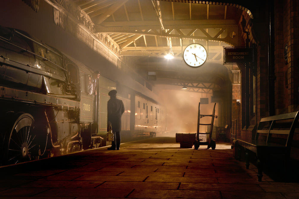 Scene from the 'Murder Mystery Train' in Leicestershire