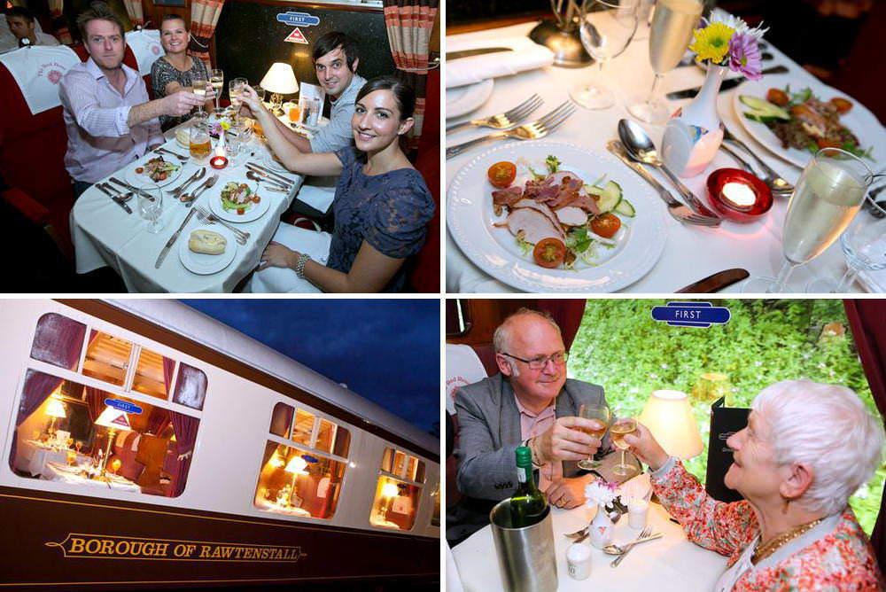 Steam Train Dinner on the East Lancashire Railway