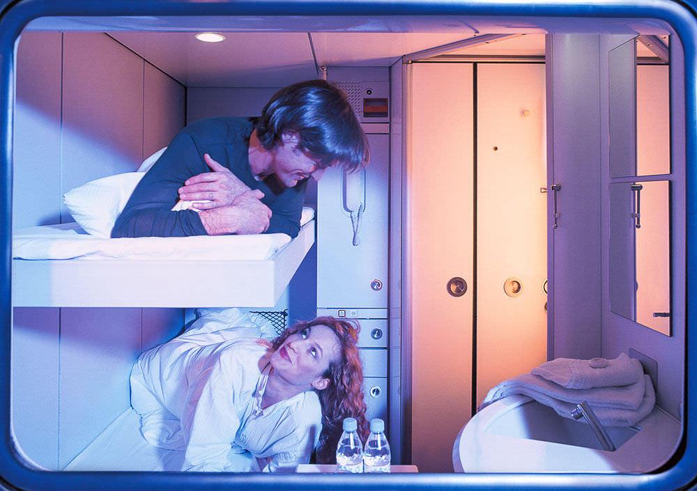 Share a private cabin on a DB City Line train
