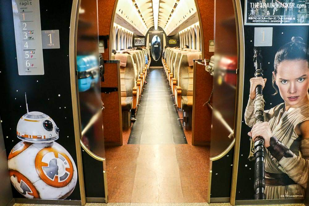 Star Wars Train - Rey & BB-8 Interior Train Carriage - © The Train Hacker images/Chris P King