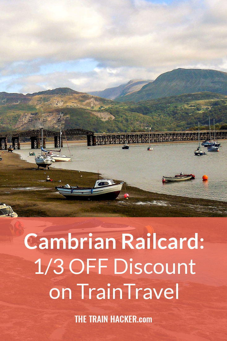Cambrian Railcard: Get 1/3 off Train Travel Discount on Cambrian Line Journeys from Shrewsbury to Aberystwyth and Machynlleth to Pwllheli. Save Now...  Image credit: https://www.flickr.com/photos/47515486@N05/14999710659/