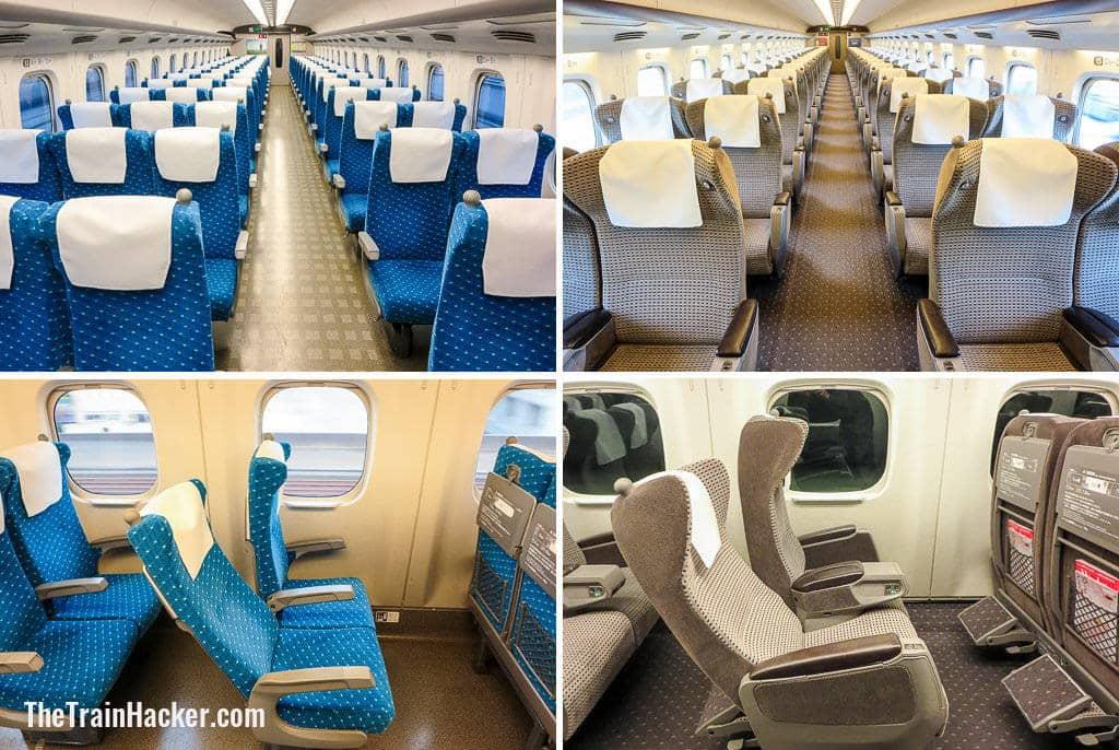 Japan Rail Pass Ordinary Car v Green Car N700 Shinkansen