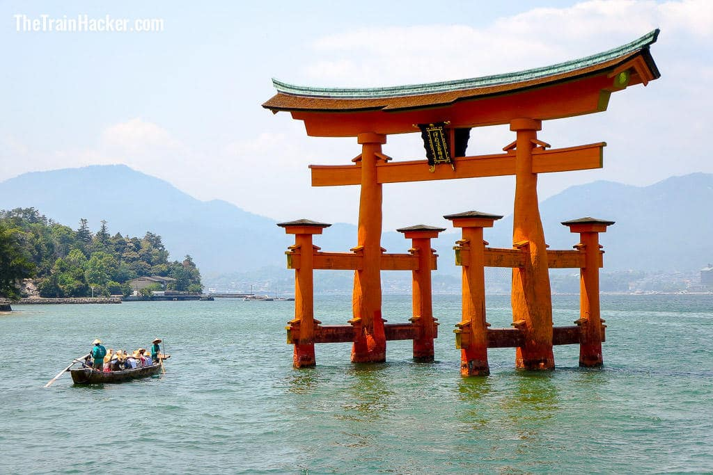 Ferry to Miyajima Island with a Japan Rail Pass