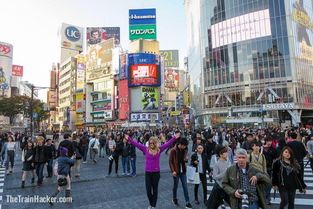 Shibuya Crossing Tokyo free with a JR Pass