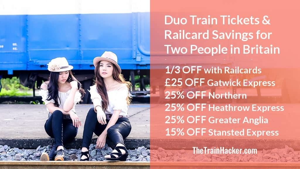 Duo Train Tickets Discount for Two People in Britain