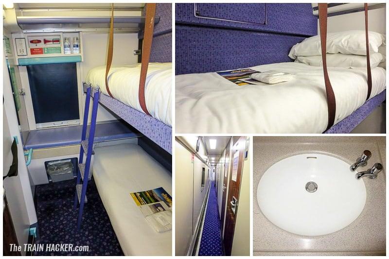 Caledonian Sleeper standard class twin berth sleeper