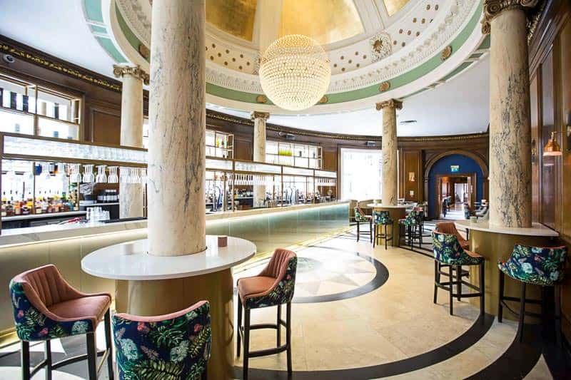 Champagne Central Bar at Glasgow's Grand Central Hotel