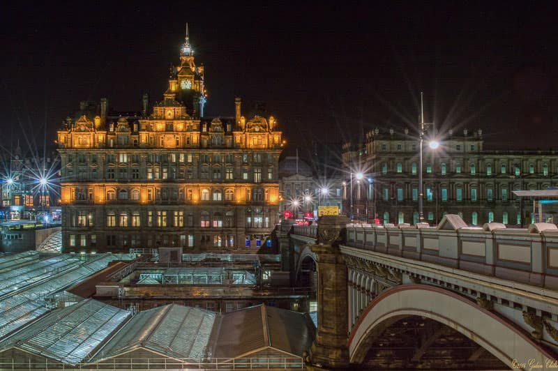 The Balmoral Hotel, Edinburgh at night