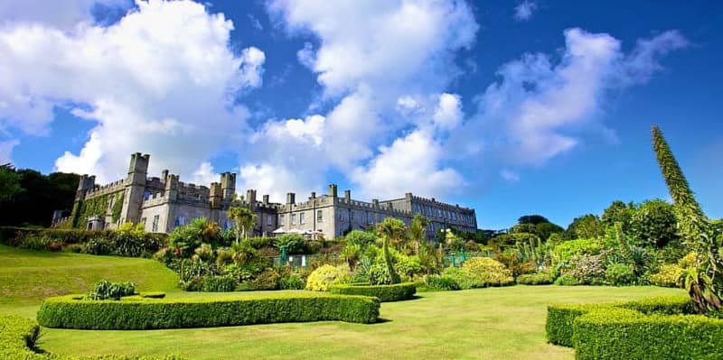 Gardens at the Tregenna Castle Hotel, St Ives Cornwall