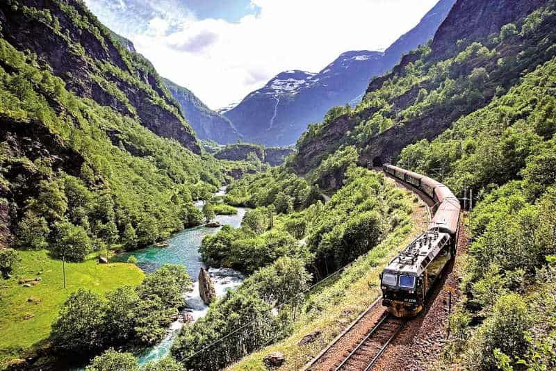 The Flam Railway scenic train ride
