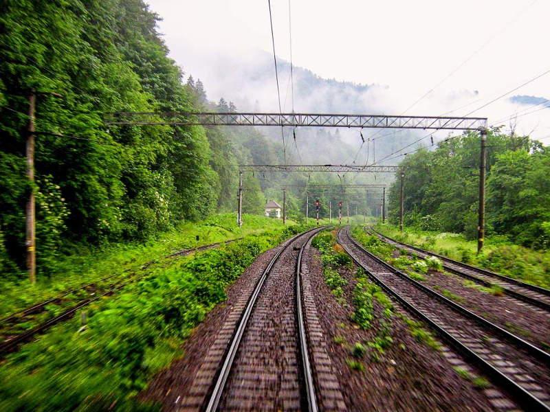 Prahova Valley from the Ploiesti to Brasov railway