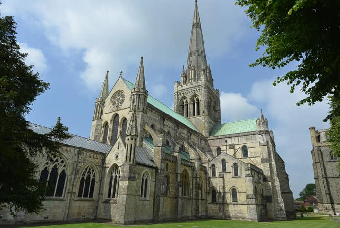Chichester Cathedral's Norman, Gothic and Victorian architecture