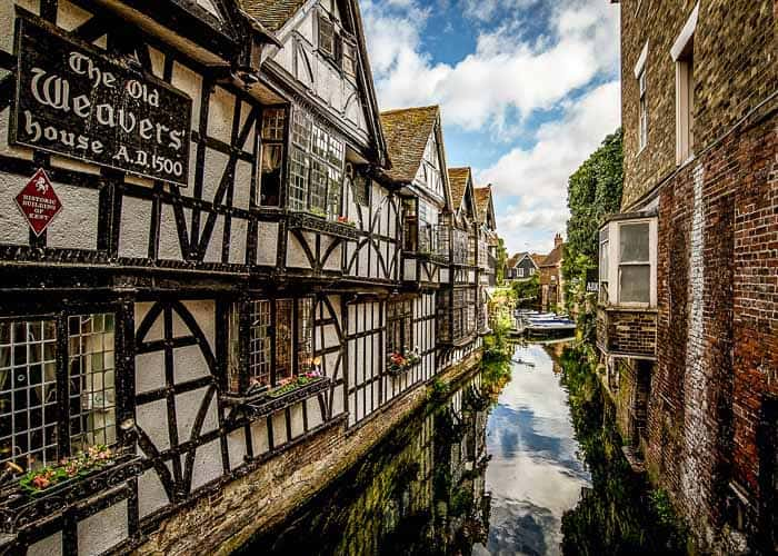 Old Weavers House on the River Stour, Canterbury