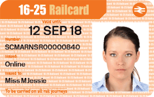 1-year & 3-year 16-25 Railcards